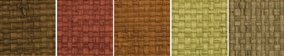 Basket Weave Restaurant Placemats and Coasters Material colors