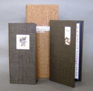 Basket Weave Wine List Menu Covers / Books