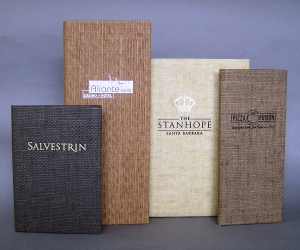 Basket Weave Menu Covers