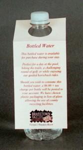 Hotel Beverage / Bottle Hanger Promotion