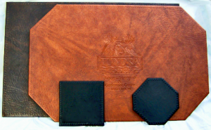 Corinthian Imitation leather restaurant quality placemats & coasters