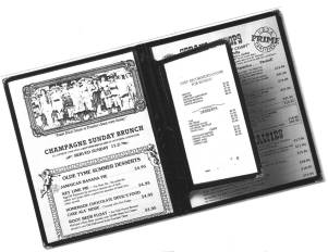 Cafe Pockets Menu Cover Inserts