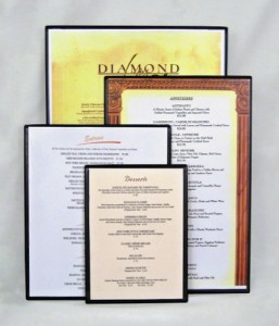 Heat Sealed Single Panel Double Side Menu Boards
