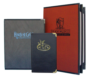 Royal Cafe Style Menu Covers with Corner Tabs