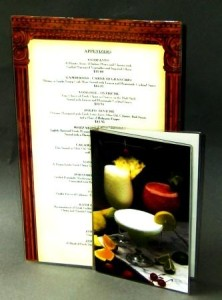 Classic Clear Menu Covers for Restaurants