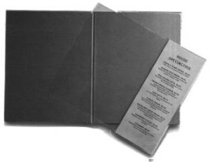 Inserts to add a page or two to your restaurant menus
