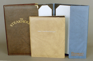 Corinthian Imitation Leather Menu Covers in Twilight
