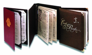 Imitation Leather Wine List Covers / Books