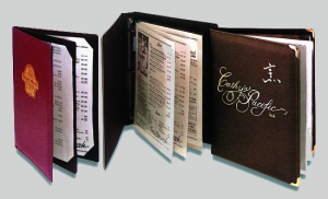 Corinthian Wine Menu Holders / Wine List Menu Books
