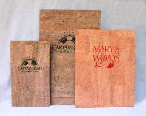 Cork Menu Covers for restaurants in Genuine Natural Cork