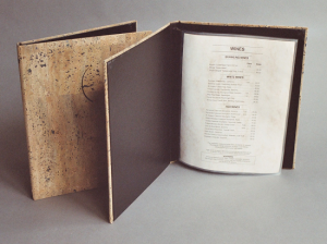 Cork Wine List Covers / Wine List Books are made with Genuine Natural Cork