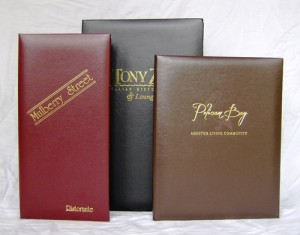 Del Mar Imitation Leather Menu Covers