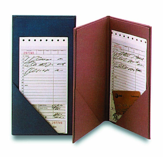 Delmar Guest Check Holders Restaurant Menu Covers By