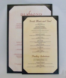 Del Mar Double Sided Single Panel Menu Covers