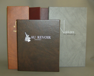 Del Mar Twilight Faux Leather Menu Covers