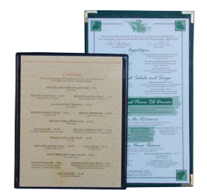Clear Plastic Menu Boards Double Sided for restaurants
