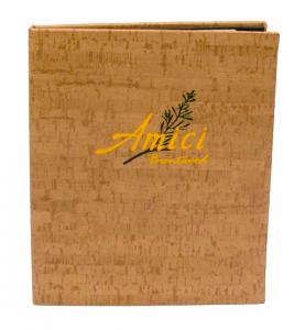 Cork Menu Cover in Faux Cork Material
