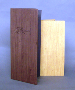 Del Mar Faux Wood Menu Covers
