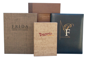 Fine Dining Restaurant Menu Covers Turned Edge Case Made Menu Covers