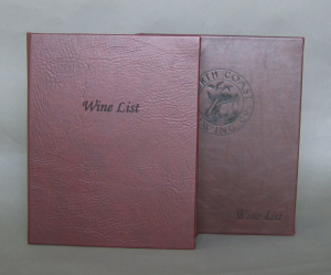 MontereyTwilight Faux Leather Wine List Covers