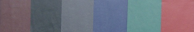 Material Colors for Napa Faux Leather Wine Menu Covers and Books Material Colors