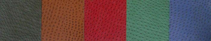 Faux Ostrich Material Colors