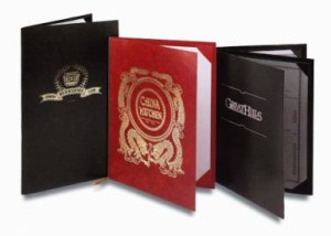 Pajco Thin Leatherette Menu Covers | Pajco Covers