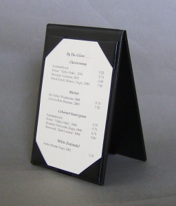 Restaurant Table Tents with Permalin upgrade