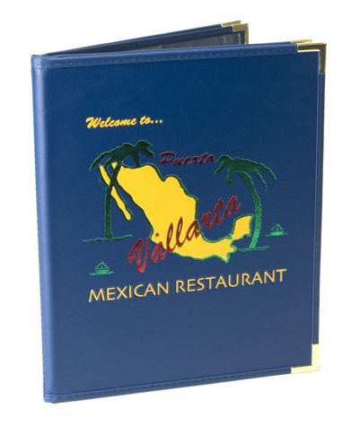 restaurant menu holders with clear pockets made in usa menusplus