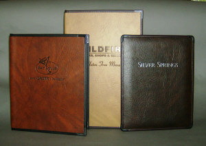 Royal Cafe Twilight Two Toned, Deep Grained Imitation Leather Menu Covers with Corner Catches