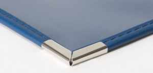 Corner construction detail for Royal Cafe Menu Holders with clear pockets styles
