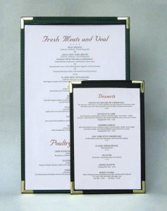 Royal Cafe Single Panel Double Sided Menu Holders