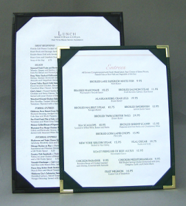 Royal Cafe Single Panel Double Sided Menu Covers | Menu Boards