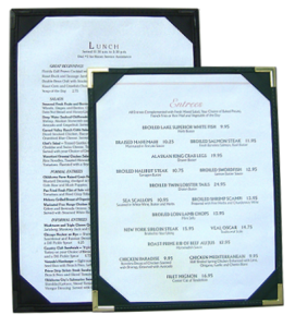 Double Sided Menu Boards / Double Sided Restaurant Menu Covers / Holders