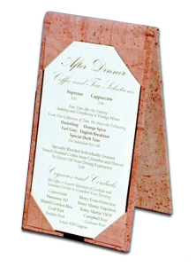 Cork Table Top Display / Cork Table Tents for Restaurants