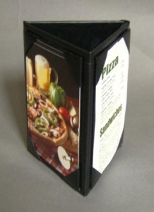triangle table tents for table top displays