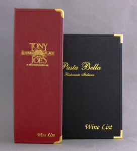 Windsor Restaurant Wine List Holders and Wine List Books