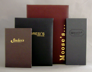 Del Mar Napa Faux Leather Menu Covers