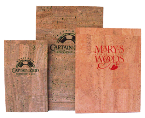 Natural Cork Menu Covers for restaurants