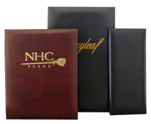 Leather Menu Covers for fine dining restaurants