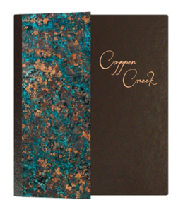Copper Leather Custom Fine Dining Menu Cover
