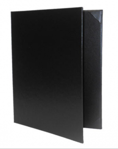 Plaza casebound menu covers in stock