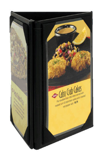 Sided Table Stands Table Top Displays In Stock - 3 sided table tents
