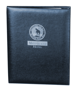 In Stock, Quick Ship case bound leather restaurant menu cover