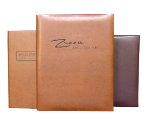 Menu Covers for Fine dining restaurants, turned edge imitation leather