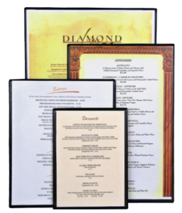 Clear Plastic Menu Boards Double Sided