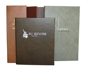 Twilight Faux Leather Restaurant Menu Covers, casebound construction