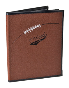 Sports Bar Menu Holders | Football Bar Menu Covers