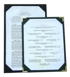 Double Sided Menu Boards