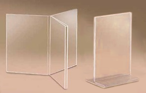 Acrylic table stands plastic